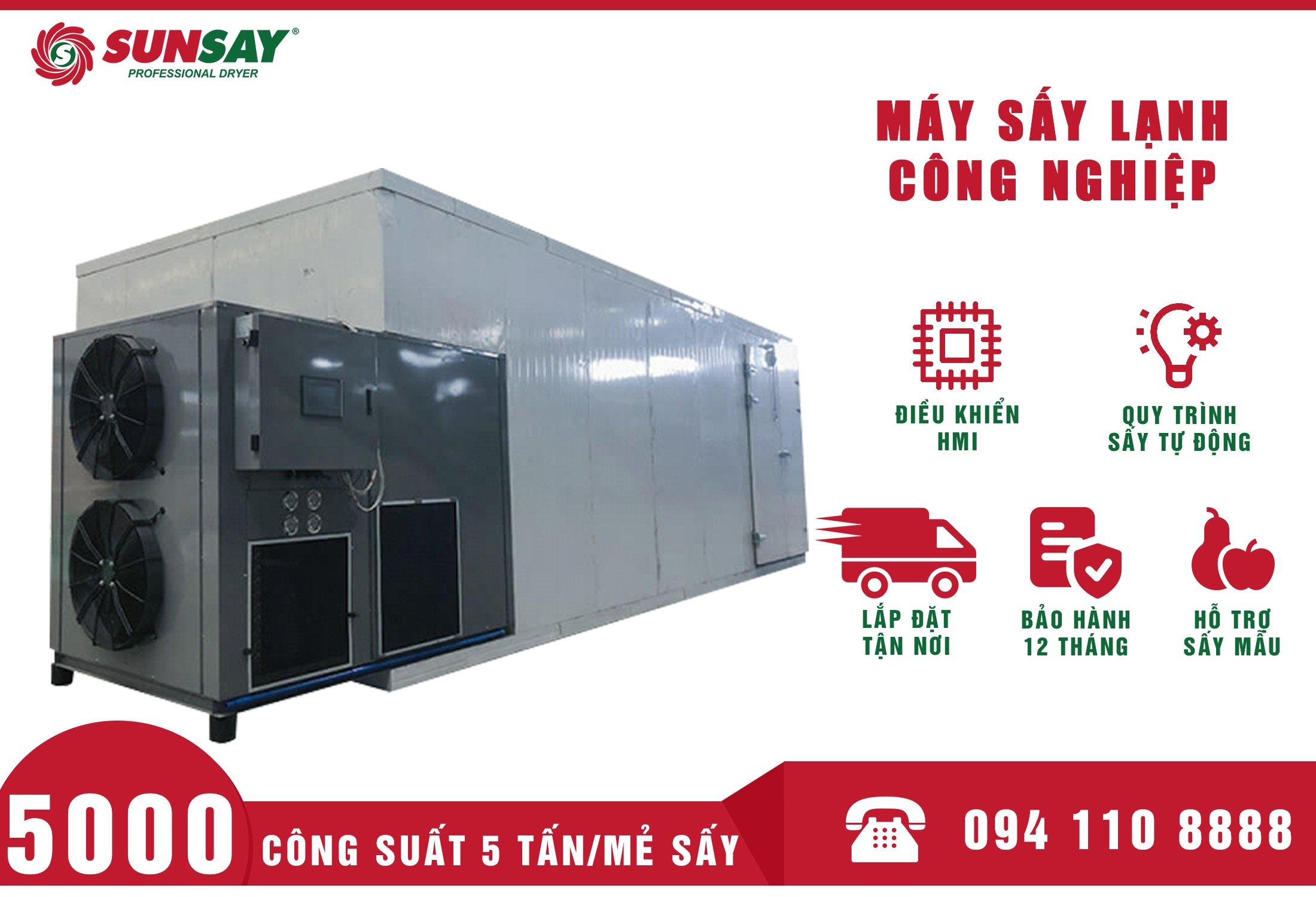 hệ thống máy sấy lạnh công nghiệp