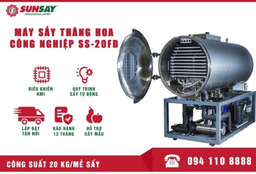 Máy sấy thăng hoa công nghiệp 20 kg