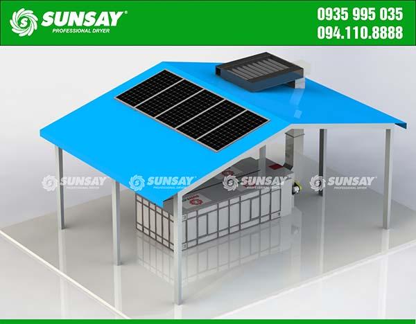 Máy sấy vĩ ngang năng lượng mặt trời
