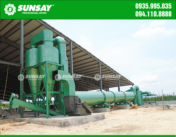 Máy sấy mùn cưa thùng quay công nghiệp
